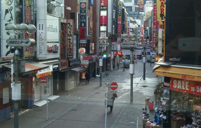 朝の渋谷は…